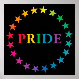 Gay Pride-Regenbogen-Sterne Poster