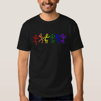 Gay Pride-Regenbogen-Tanzen-Leute T-shirt