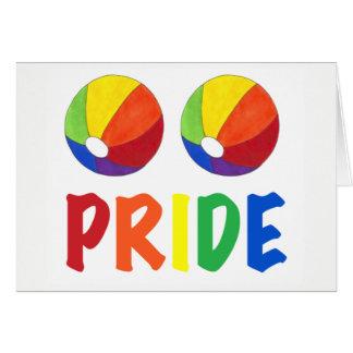 Gay Pride-Regenbogen-Wasserball Beachball LGBTQ Karte