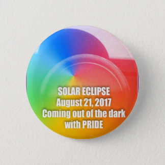 Gay Pride-Solareklipse-Knopf 8-21-17 Runder Button 5,7 Cm