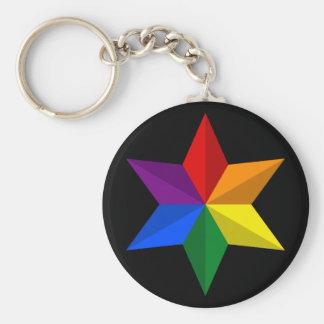 Gay Pride-Stern Schlüsselanhänger