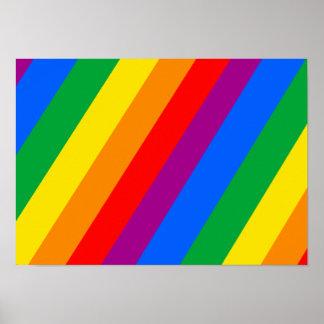 Gay Pride-Streifen Poster