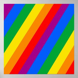 Gay Pride-Streifen Posterdruck