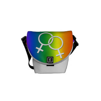 Gay Pride-Taschen-Regenbogen-Liebe-Bote-Tasche Kurier Taschen