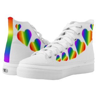 Gay Pride-Turnschuh-Regenbogen-Liebe-Schuhe Hoch-geschnittene Sneaker