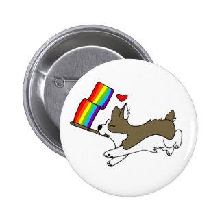 Gay Pridecorgi-Button Runder Button 5,7 Cm