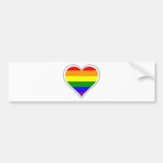 Gay Prideregenbogenherz Autoaufkleber