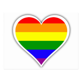 Gay Prideregenbogenherz Postkarten