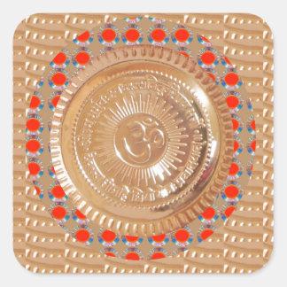 GAYATRI Beschwörungsformel n OmMantra Symbol Quadratischer Aufkleber