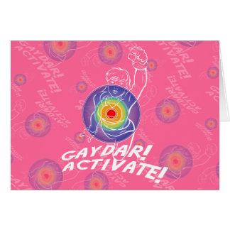 Gaydar! Aktivieren Sie! Regenbogen-Lesbe Karte