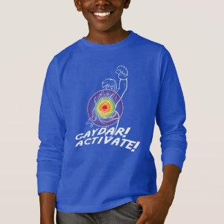 Gaydar! Aktivieren Sie! Regenbogen-Lesbe T-Shirt