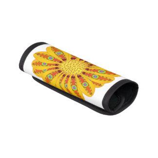Gazania-Blumen-Stammes- Pfau Gepäckgriff Marker