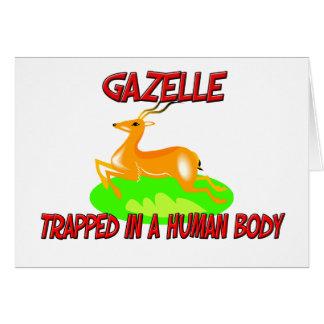 Gazelle eingeschlossen in einem menschlichen karte