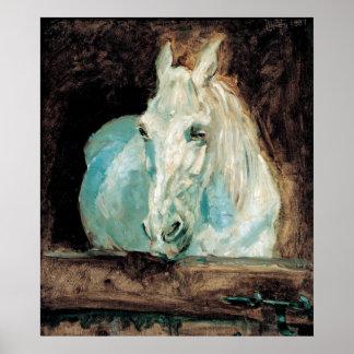Gazelle Henrides Toulouse-Lautrec das weiße Pferd Poster