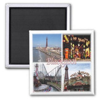 GB * England - Blackpool Quadratischer Magnet