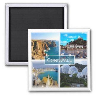 GB * England - Cornwall Quadratischer Magnet