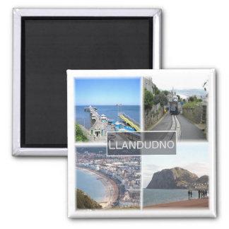 GB * Llandudno Wales Quadratischer Magnet