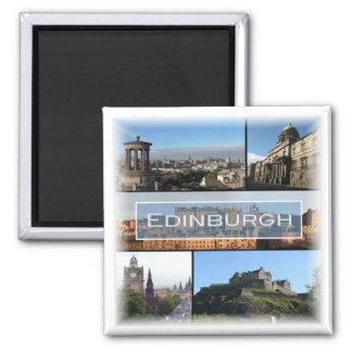 GB * Schottland - Edinburgh Quadratischer Magnet