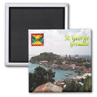 GD - Grenada - St George Quadratischer Magnet