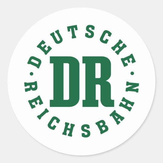 GDR / DDR Railway - Deutsche Reichsbahn Sign Runder Aufkleber