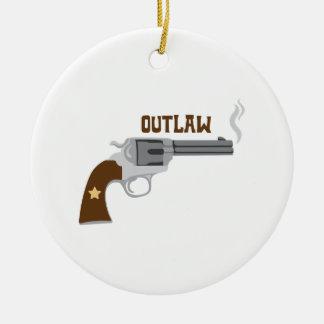 Geächtete Pistole Keramik Ornament
