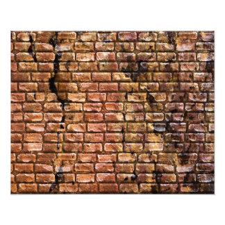 Gealterte Backsteinmauer gemasert Kunst Fotos
