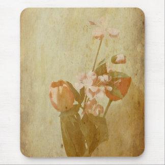 Gealterte Blumen Mousepad