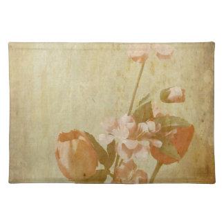 Gealterte Blumen Stofftischset