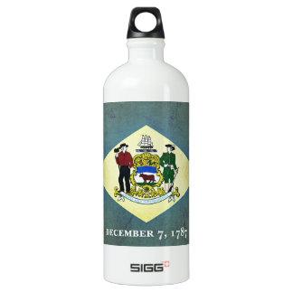 Gealterte Delaware-Flagge Aluminiumwasserflasche