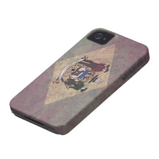 Gealterte Delaware-Flagge iPhone 4 Cover