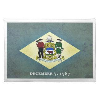 Gealterte Delaware-Flagge Tischset
