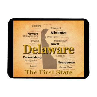 Gealterte Delaware-Staatsstolz-Karte Magnet