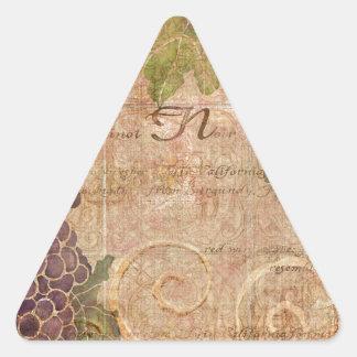 Gealterte Dreiecks-Aufkleber