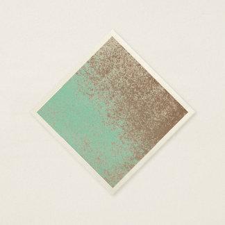 Gealterte Farbe Schlamm-Liebhaber-Browns Spritzen Papierserviette