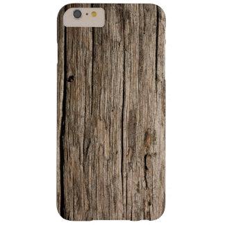 Gealterte hölzerne Korn-Beschaffenheit Barely There iPhone 6 Plus Hülle