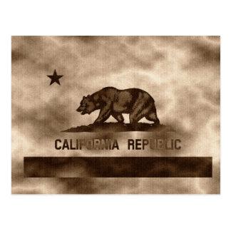 Gealterte Kalifornien-Flagge Postkarten