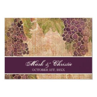 Gealterte Trauben-Weinberg-Hochzeit UAWG 8,9 X 12,7 Cm Einladungskarte