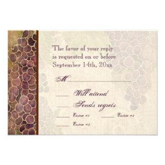 Gealterte Trauben-Weinberg-Hochzeit UAWG Personalisierte Einladungskarte