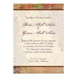 Gealterte Trauben-Weinberg-Hochzeits-Einladung