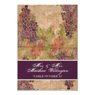 Gealterte Trauben-Weinberg-Wedding 8,9 X 12,7 Cm Einladungskarte