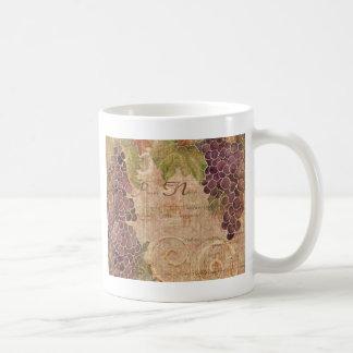 Gealterte Trauben-Weinbergwatercolor-Wohngestaltun Tasse