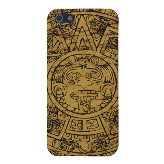 Gealterter aztekischer Sunsteinkalender iPhone 5 Cover