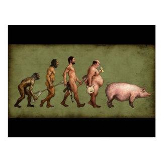 Geänderte Evolution Postkarte