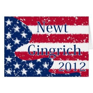 Geänderte US Flagge Newt Gingrich 2012 Karte