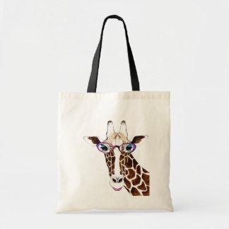 Geändertes Kunst-Funky Giraffen-Shirt Budget Stoffbeutel