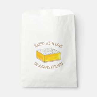 Gebacken mit Liebe-selbst gemachtem Geschenktütchen