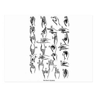 Gebärdensprache-Alphabet Postkarten