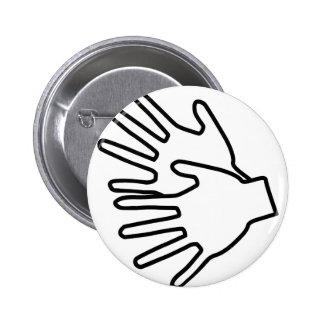 Gebärdenspracheikone Runder Button 5,1 Cm