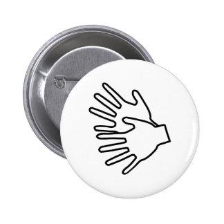 Gebärdenspracheikone Runder Button 5,7 Cm
