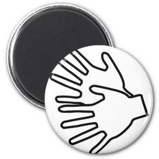 Gebärdenspracheikone Runder Magnet 5,7 Cm